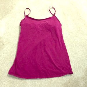 Aerie purple tank top with built in bra